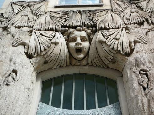 door frieze art nouveau architecture