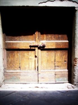 door old door brown
