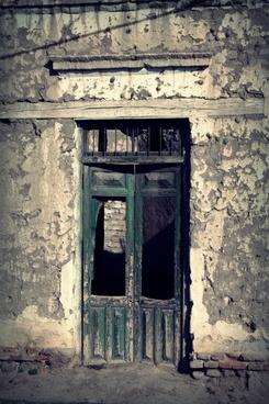 door old ruins