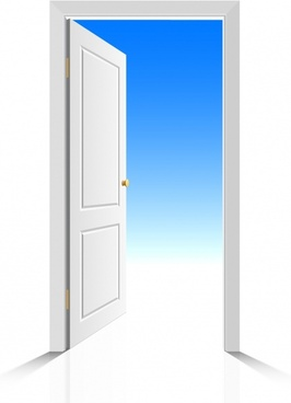 open door background modern bright 3d design