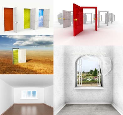 doors and windows of highdefinition picture