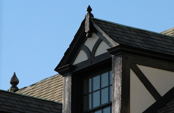 dormer window gable sloping roof