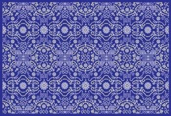 Dot Flower Pattern, Vector EPS Pattern Tutorial Design