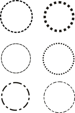 dotted line circle vector