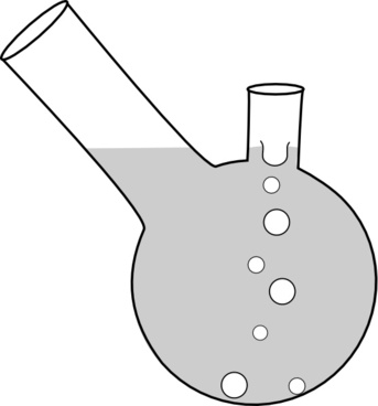 Double Neck Boiling Flask clip art