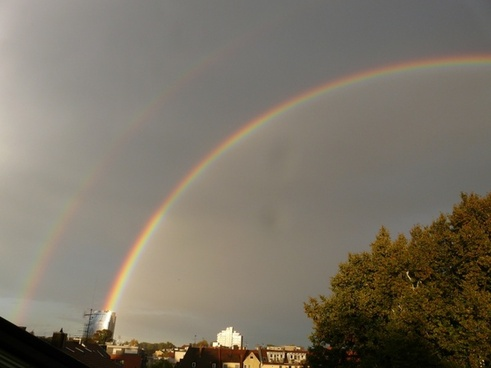 double rainbow rainbow mirroring