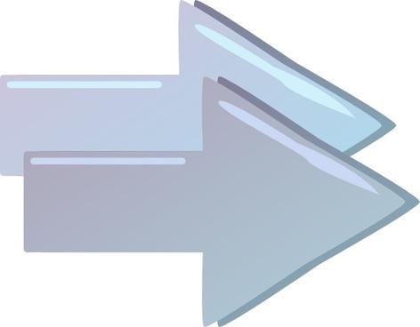 Double Right Forward Arrows clip art