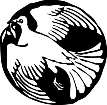 Dove In Circle clip art