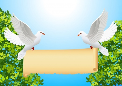 dove of peace and roll vector