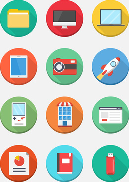 download flat web icons for free