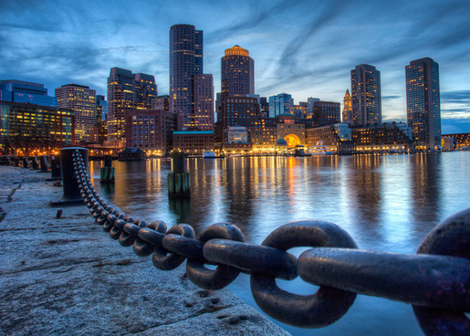 downtown boston from fan pier