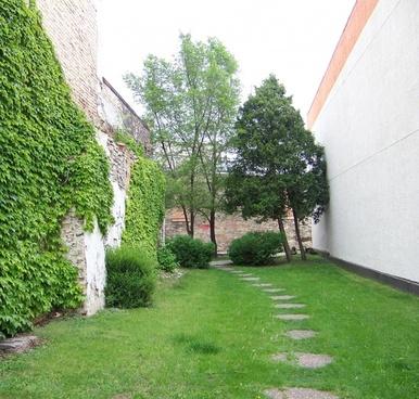 downtown garden path