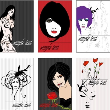 draft beauty trend line vector