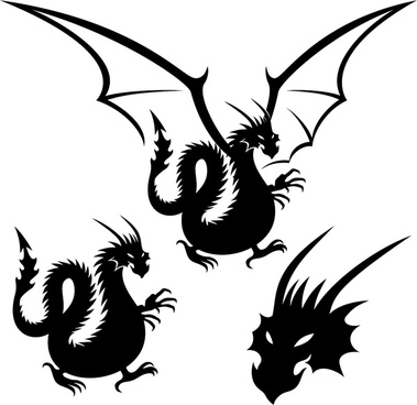 dragon tattoo element vector