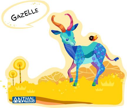 draw gazelle vector