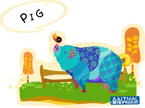 draw pig vector