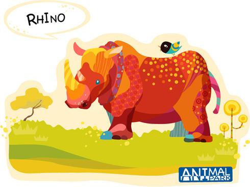 draw rhino vector