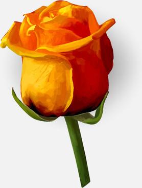 drawing rose bud vector