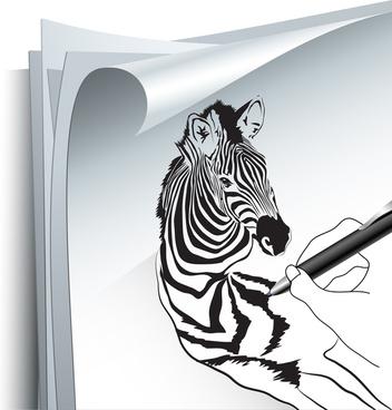 drawing zebra