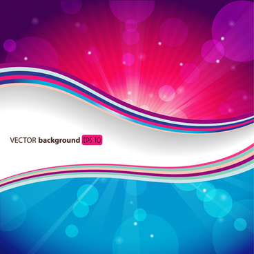 dream background with light effects design vector