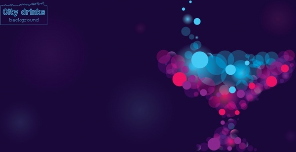 abstract background dark multicolored bokeh light decor