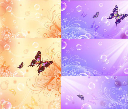 dream butterfly decorative pattern background vector