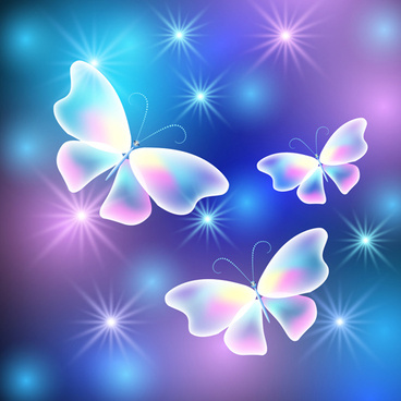 dream butterfly with shiny background vector