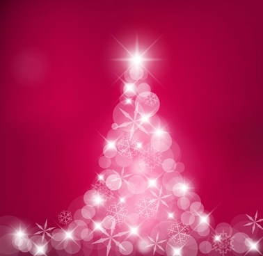 dream christmas tree vector