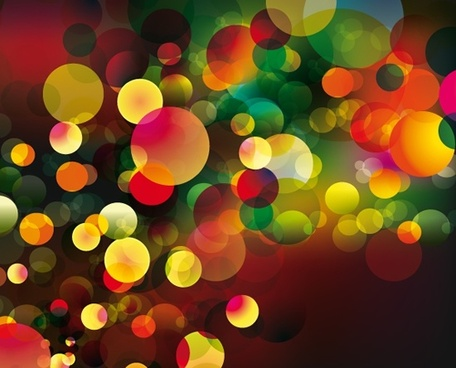 decorative abstract background colorful blurred rounds decor