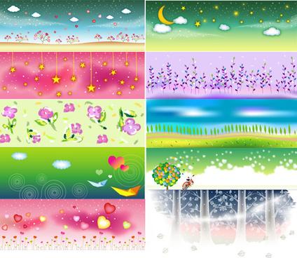 dream clean background design elements