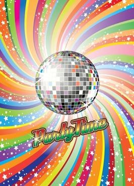 dream disco ball vector