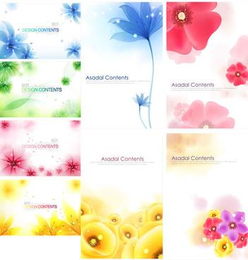 dream flower background art vector