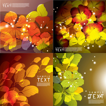 dream flower background vector art