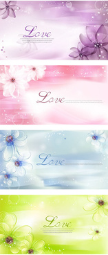 dream flower background vector graphics