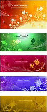 dream flower banner vector art