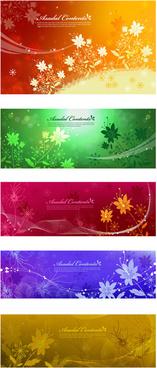 dream flower banner vector art
