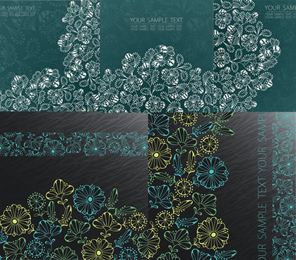 dream flower pattern background art vector