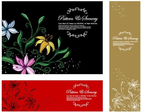 dream flowers vector 11