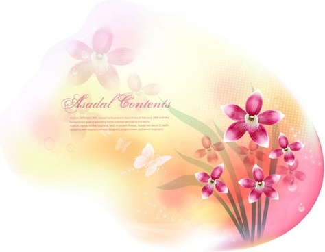 dream flowers vector 13