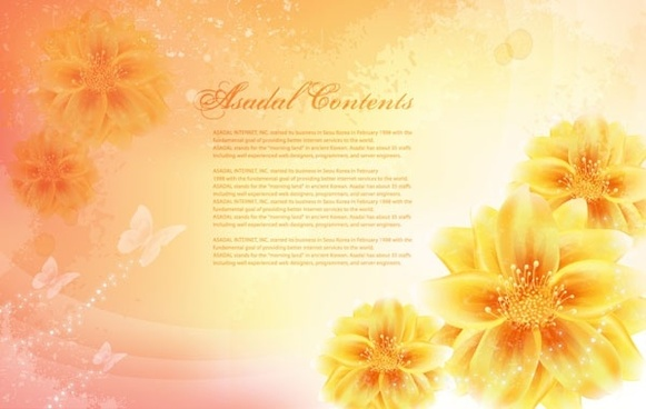 dream flowers vector 14