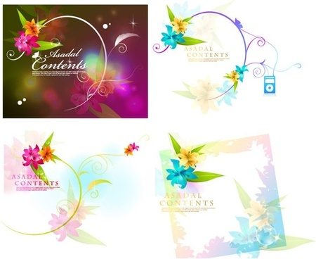 dream flowers vector 16