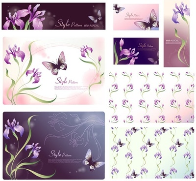 dream flowers vector 17