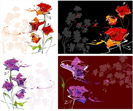 dream flowers vector 8