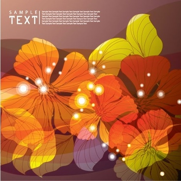 dream flowers vector background 2