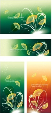 decorative background templates petals icons sparkling vivid design