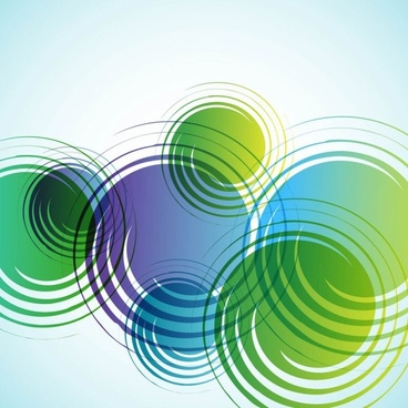 Dream green abstract background 05 vector