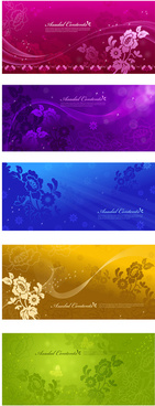 dream of dark decorative pattern background art