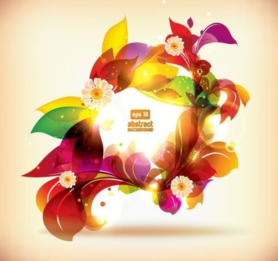 dream of flowers vector background 3
