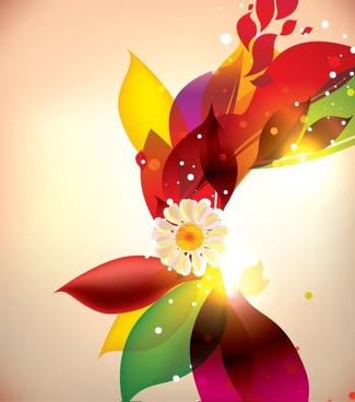 dream of flowers vector background 4