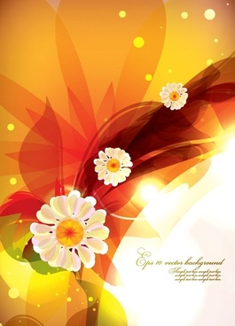 dream of flowers vector background 5